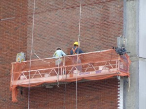 Scaffold Work on Building in New York