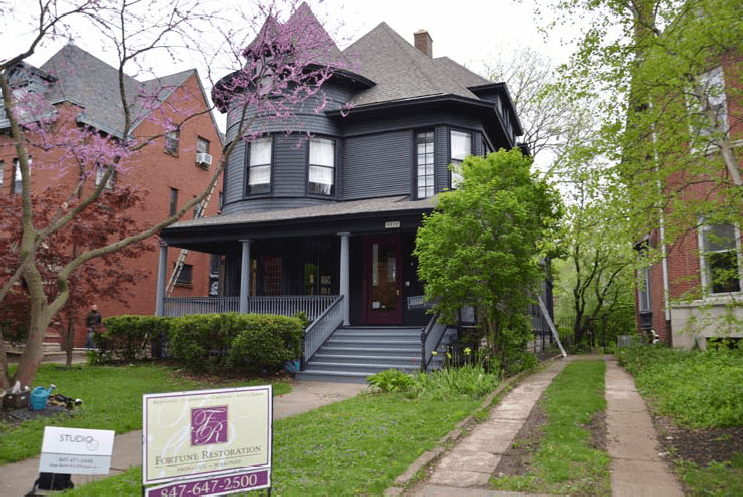 The front of a home before a renovation