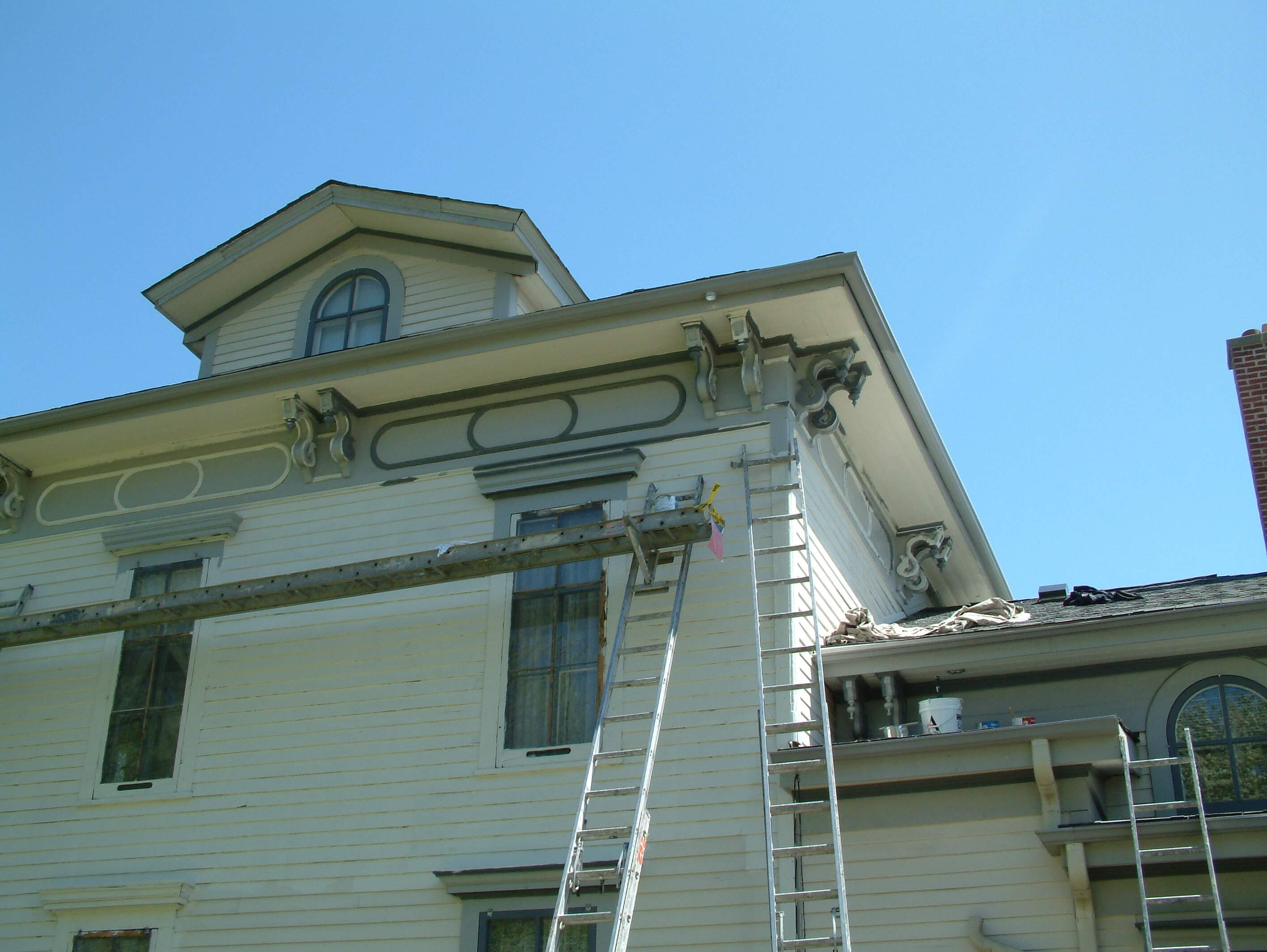 Broken Window Glass Noble Seymour Crippen House Norwood Park