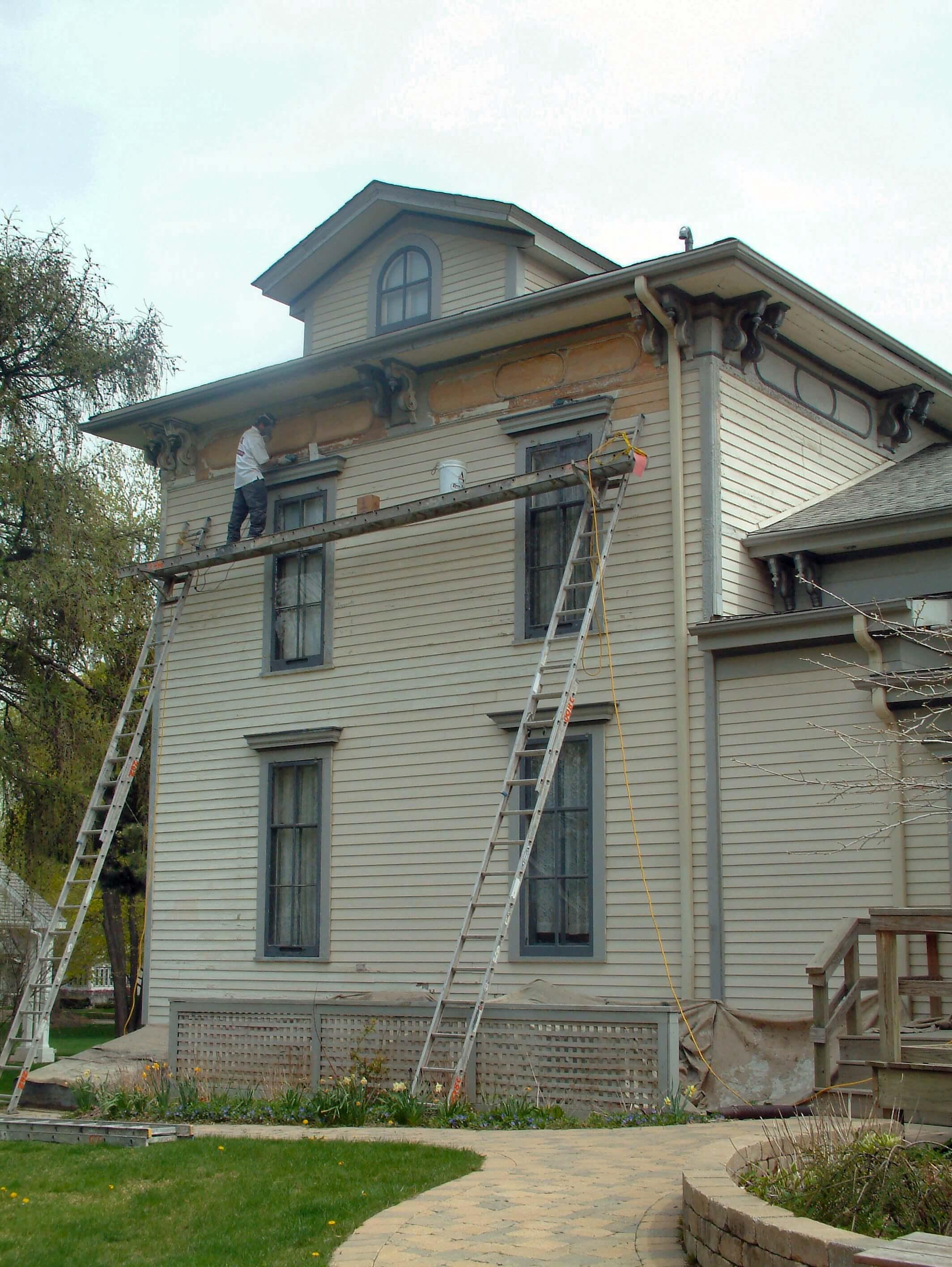 Brick Repair Noble Seymour Crippen House Norwood Park