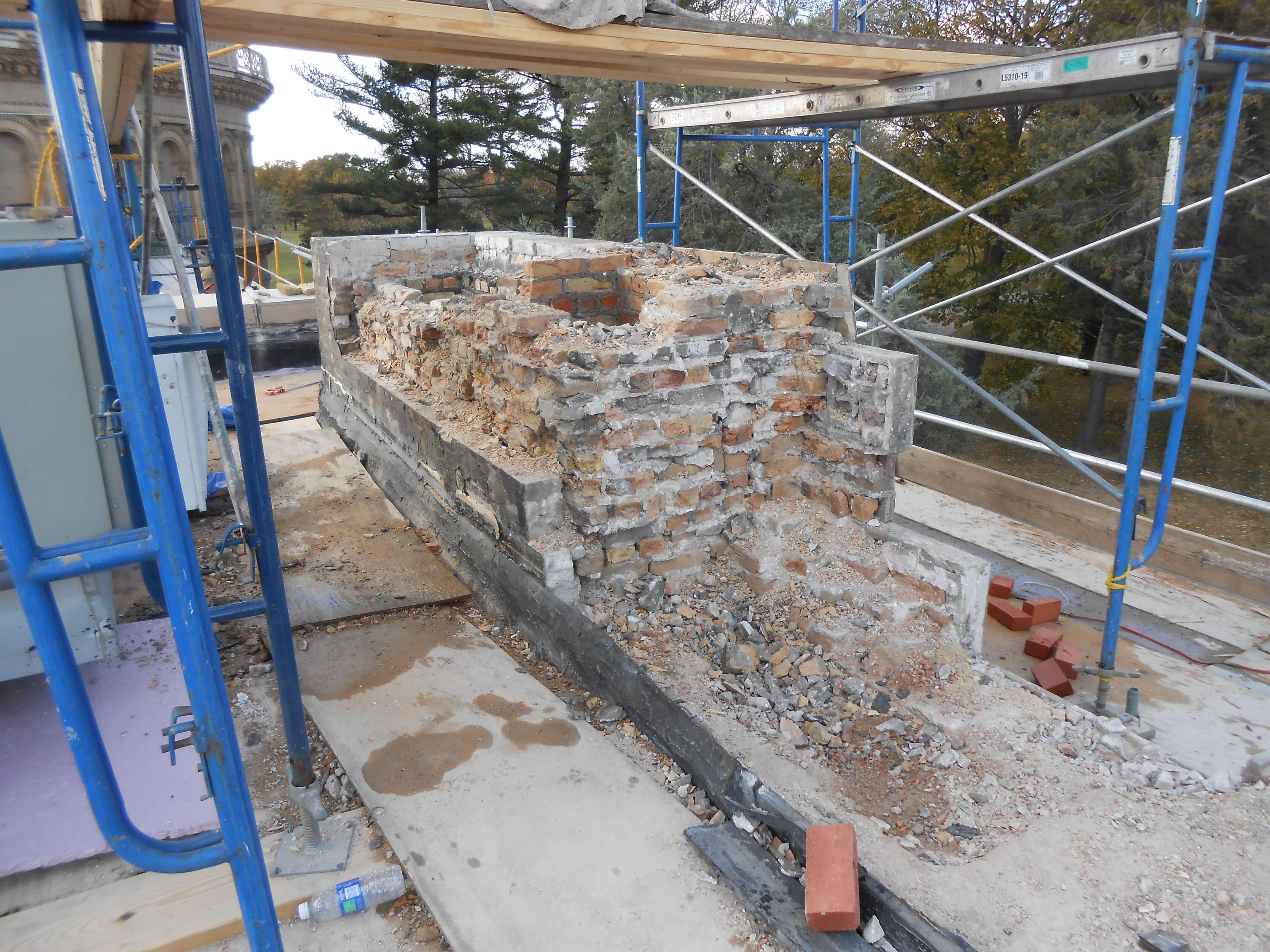 Walls Restoration Work Yerkes Observatory, Williams Bay WI