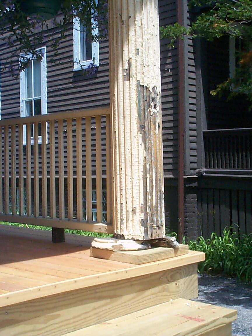 Wooden Column Restoration Hyde Park