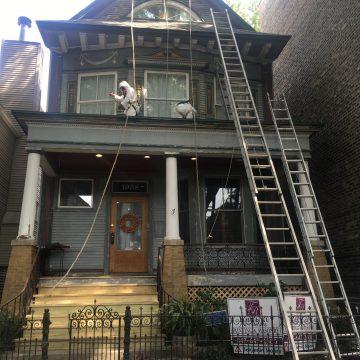 Men renovating home
