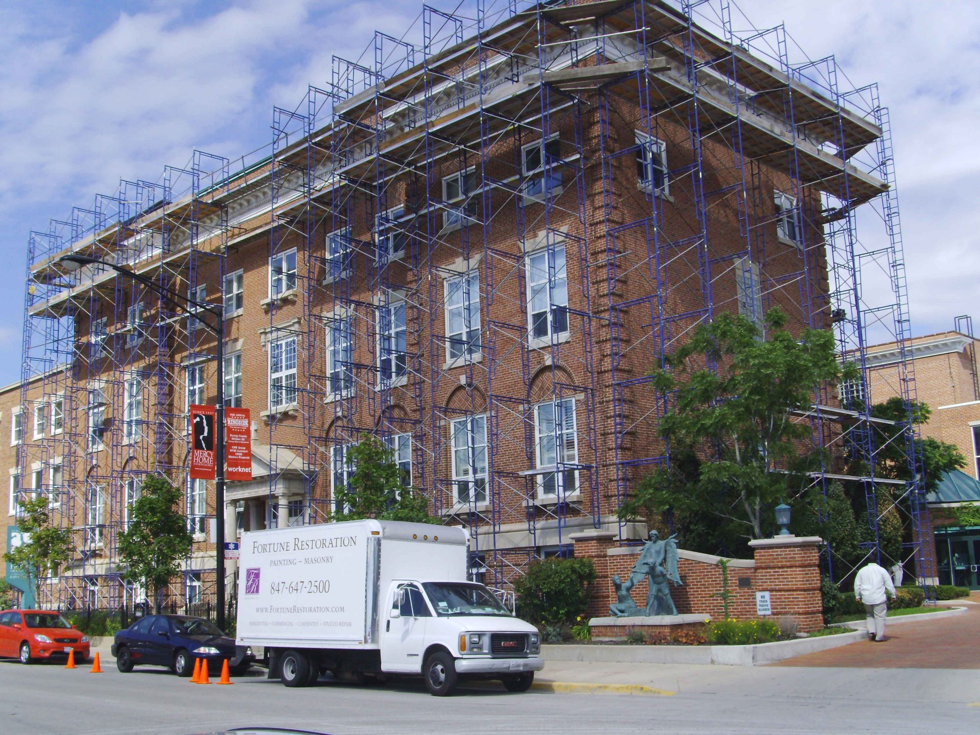 Brick Repair Mercy Home for Boys & Girls, Downtown Chicago
