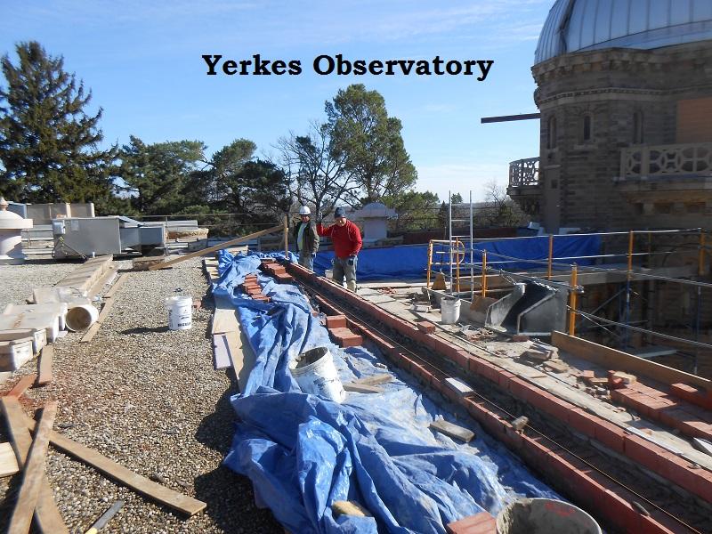 Yerkes observatory renovation work