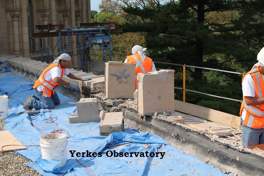 masonry work on yerkes observatory