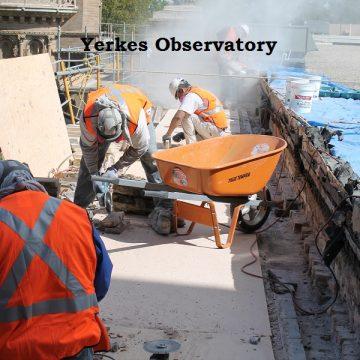 Yerkes observatory roofing work