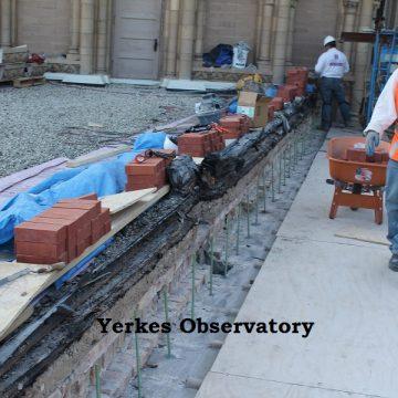 More yerkes observatory masonry work