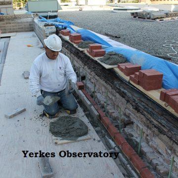 Yerkes observatory masonry work