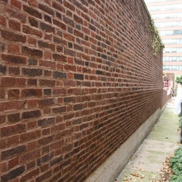 complete renovated brick wall