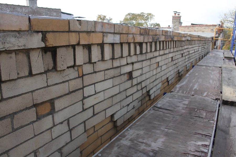 outer brick wall